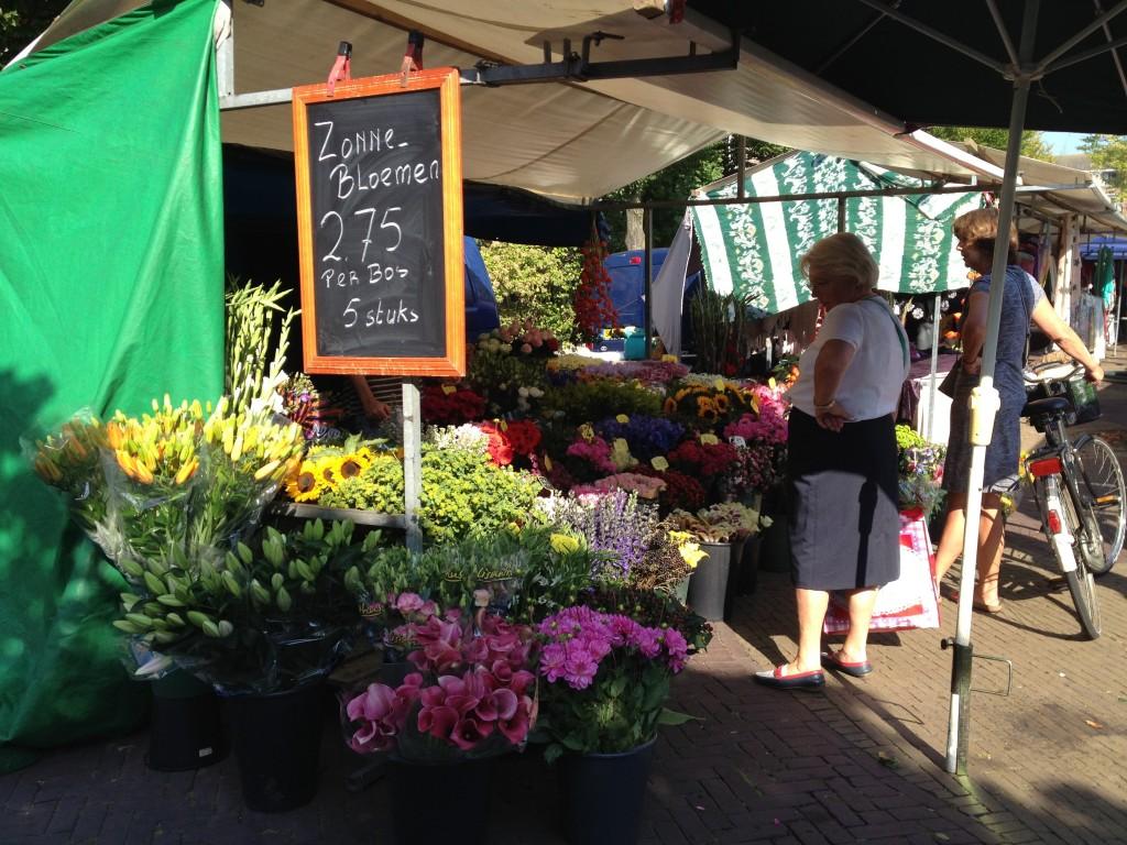 オランダのマーケット(花)