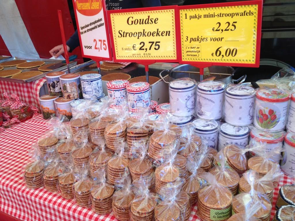 オランダのマーケット(ストロープワッフル)