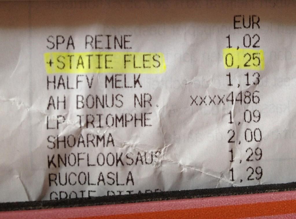 オランダスーパーのレシート