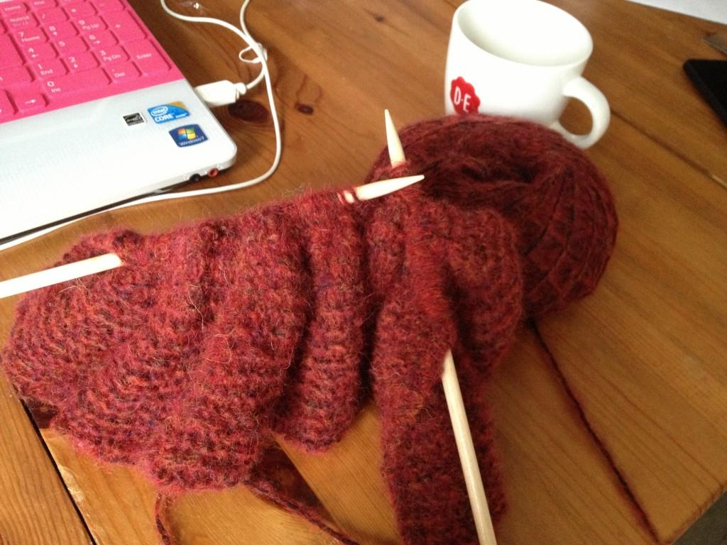 オランダで編み物